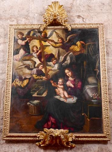 Virgen de la Leche. Óleo S.XVII-XVIII