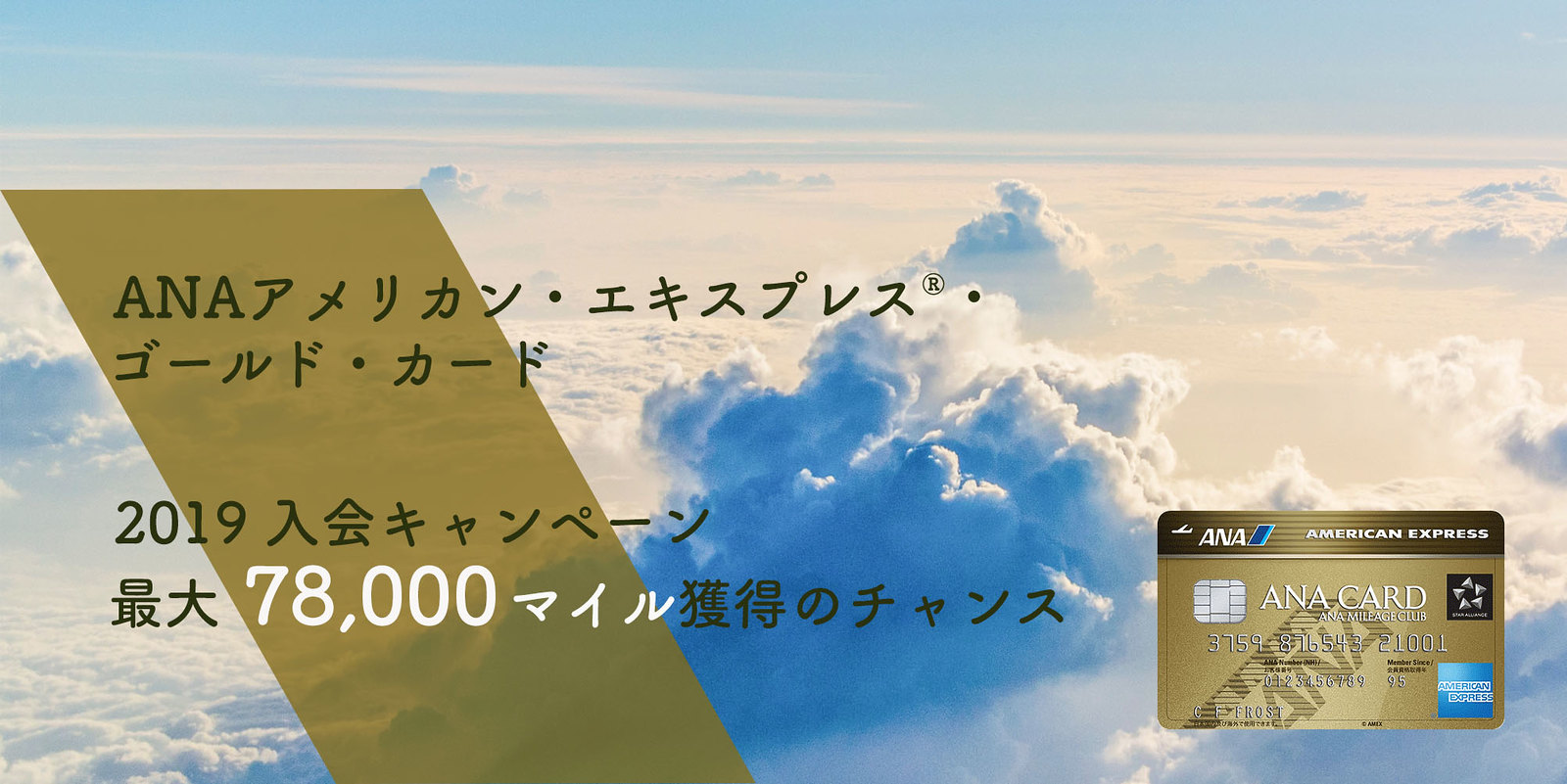 ANAアメックス・ゴールド 入会キャンペーン 2019
