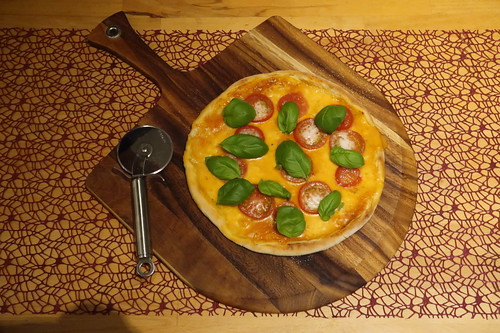 Pizza Margherita (frisch aus dem Pizzaofen)
