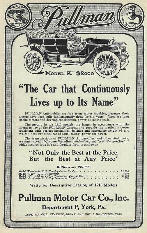 1910 Pullman Model K