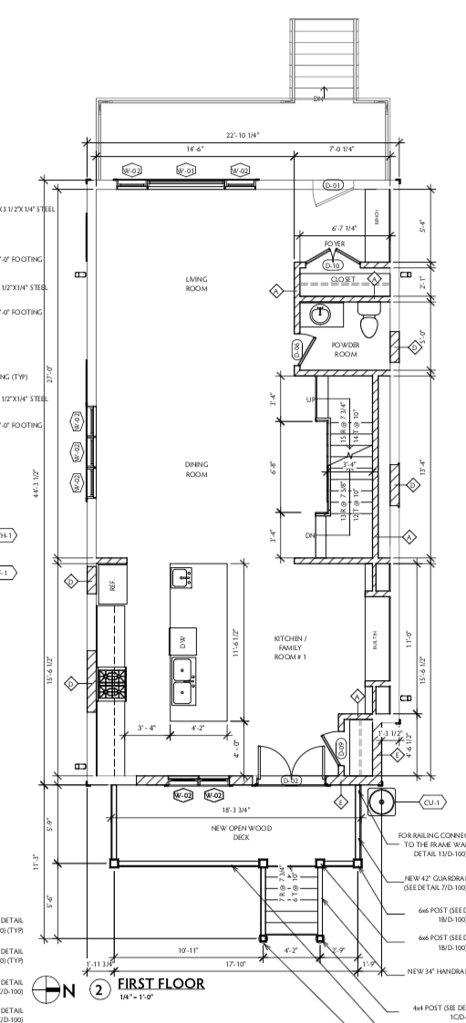 4581 N McVicker Arch Drawings - First Floor