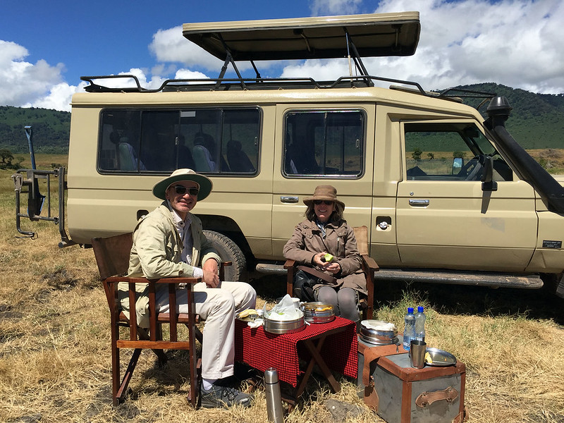Picnic lunch in Ngorongoro