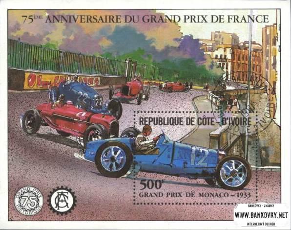 Známky Pobrežie Slonoviny 1981 GP Francúzska razený hárok