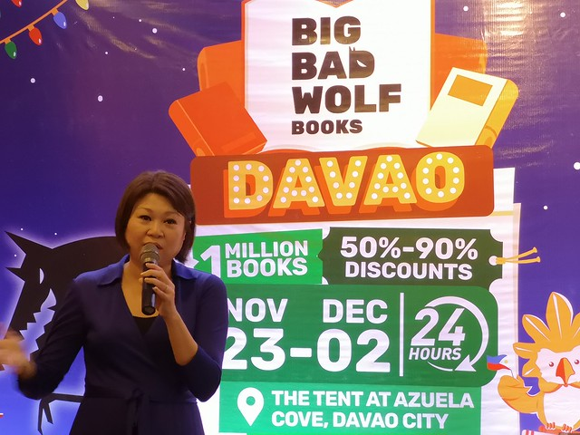 Big Bad Wolf Book Sale Malaysia co founder Jacqueline Ng at Azuela Cove DavaoIMG_20181105_150035
