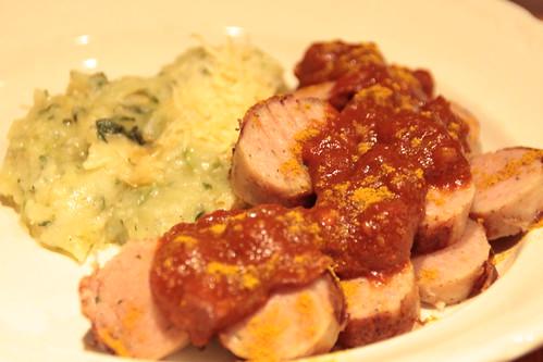 Currywurst met eigen saus...