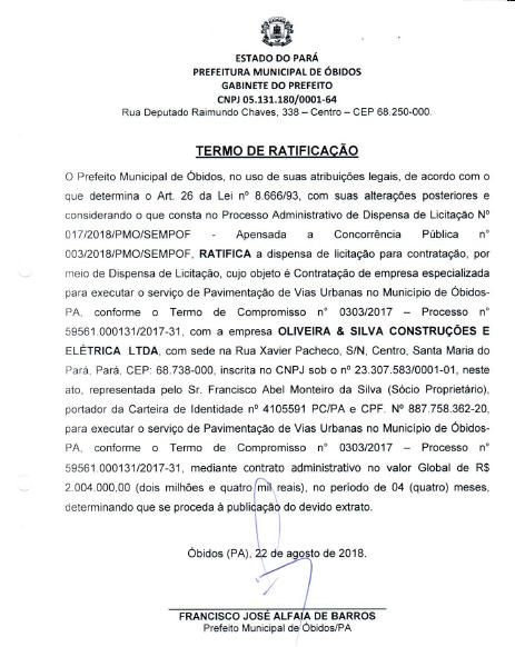 contrato asfalto - óbidos