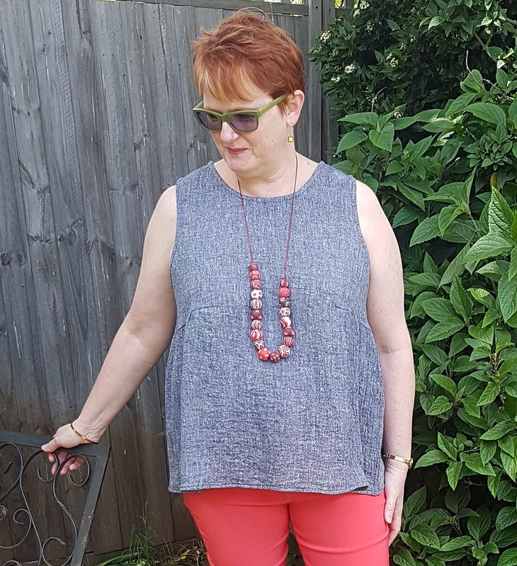 Tessuti Valerie top in crinkle cotton or linen