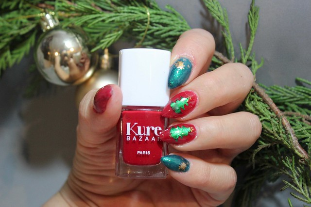 Kure bazaar stiletto joulukynnet christmas nails