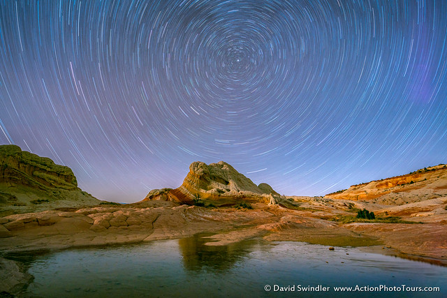 Star Trails at White Pocket