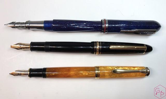Conklin Empire Stardust Blue Fountain Pen with OmniFlex Nib 11
