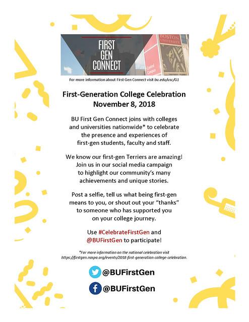 revised First Generation College Celebration flyer 2 - Kristine Gilchrist-Minasidis