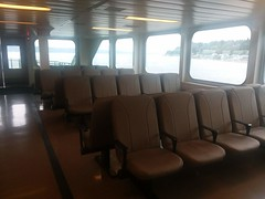 Empty Leather Seating on the MV Samish