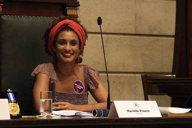 Marielle Franco was the fifth most voted-for member of council in the city's 2016 election, supported by 46,000 voters - Créditos: Naldinho Lourenço