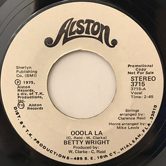 BETTY WRIGHT:OOOLA LA(LABEL SIDE-B)