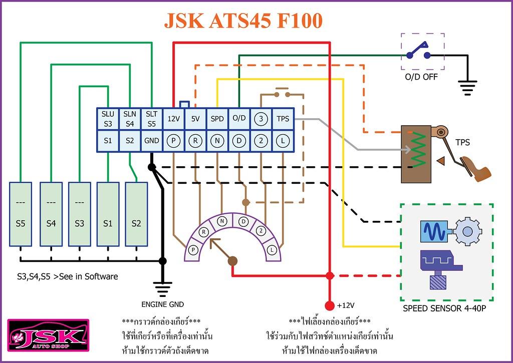 ATS45 F100 wiring diagram (JSK AUTO SHOP)   www.youtube.com ... on