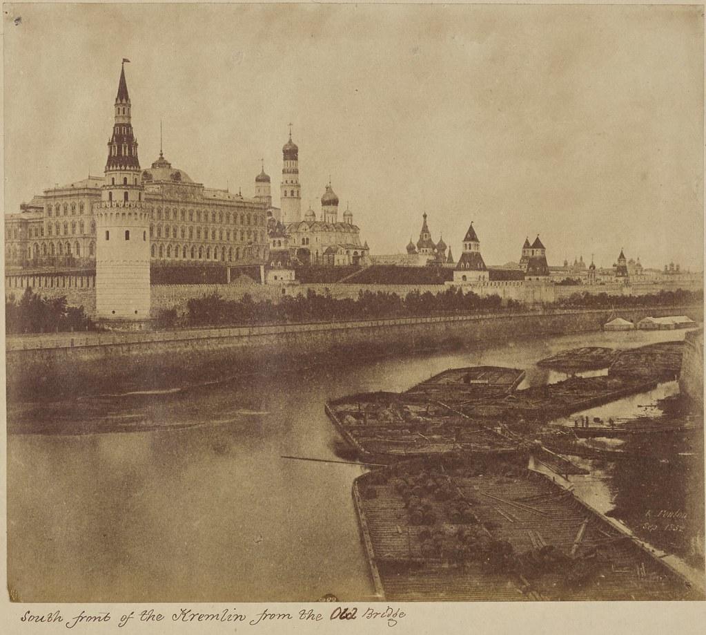 Москва. Южная часть Кремля со Старого моста.