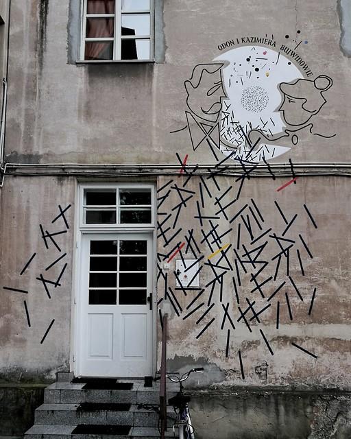 Anna Zabdyrska i Artur Wabik, Mural poświęcony Odonowi i Kazimierze Bujwidom