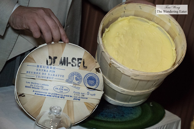 Extra fine demi-salted butter from France to go with hte fresh baked boule