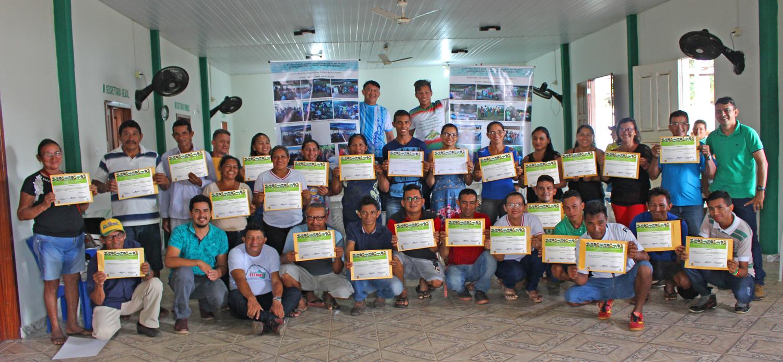 Agricultores de Juruti recebem capacitação em sistemas agroflorestais, Capacitação de agricultores em Juruti