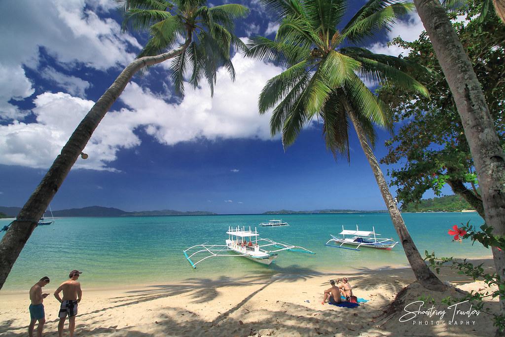 view of Itaytay Beach from Deep Moon Resort, Port Barton, San Vicente, Palawan