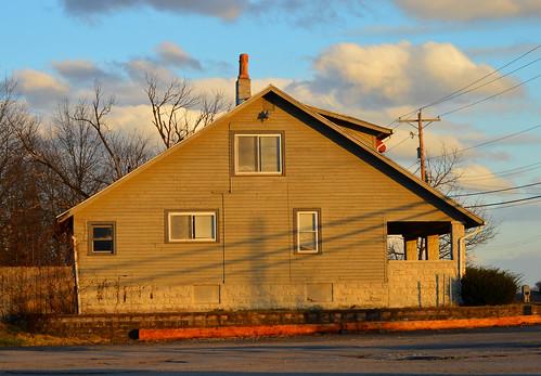 house columbus ohio clouds windows utility pole