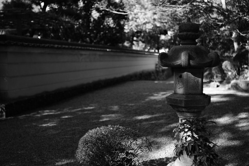 Inside the precincts of Japan's old temple