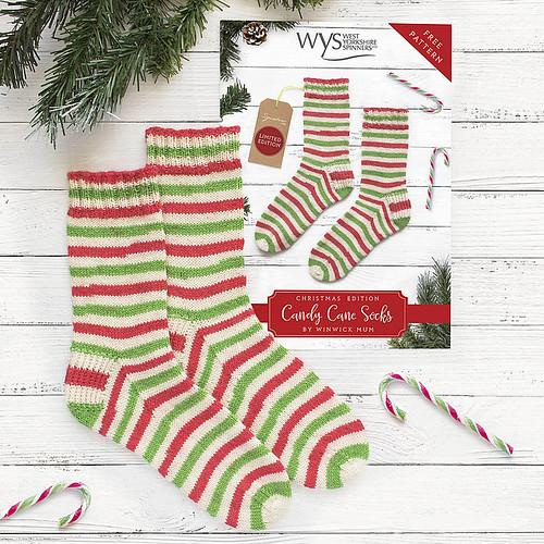 Last year's Candy Cane Christmas sock yarn