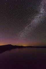 Crater Lake Pathways at Night