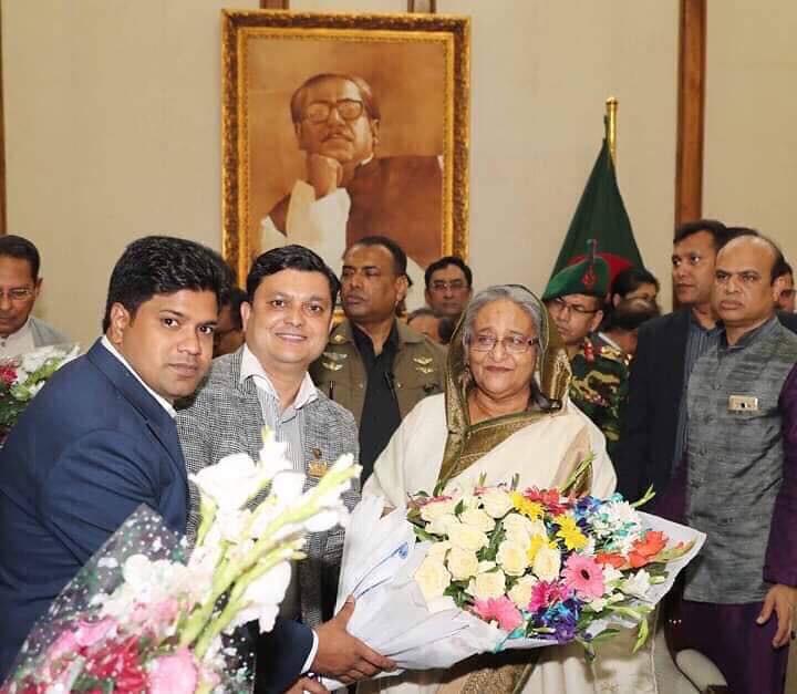 Rofiq Khan With Sheik Hasina