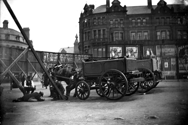 The waste ground circa 1900, almostopposite the Posada, (that was built on the site of Noah's Ark Inn) in Lichfield Street.
