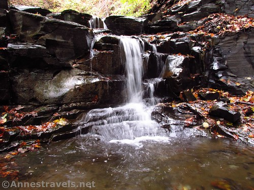 The Second Falls in Barnes Creek Gully, Canandaigua, New York