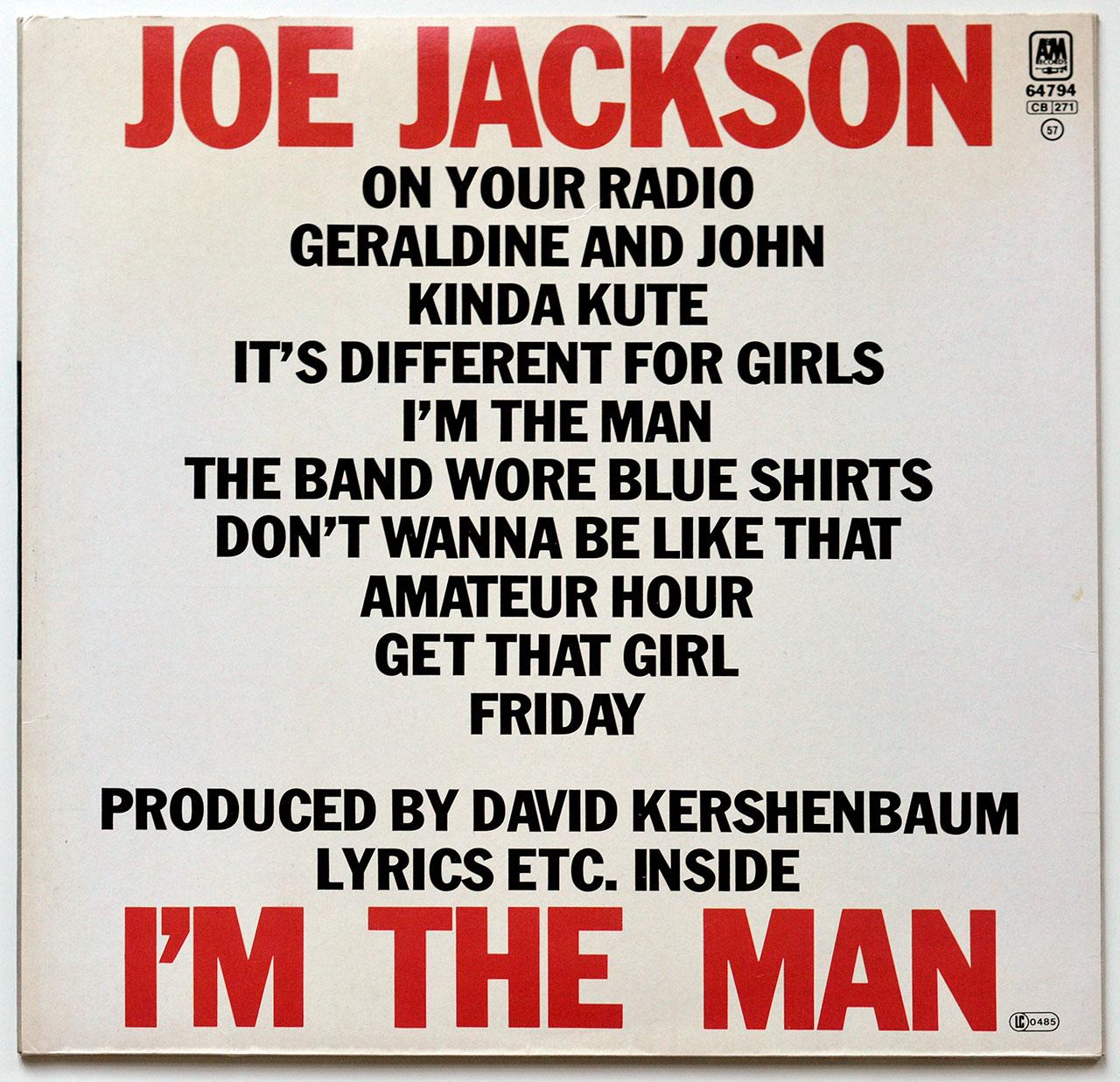 A0677 JOE JACKSON I'm The Man