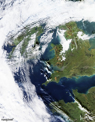 Wave Clouds over Ireland. Original from NASA. Digitally enhanced by rawpixel.