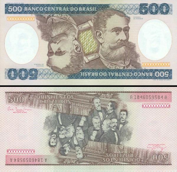 500 cruzeiros Brazília 1981, P200a