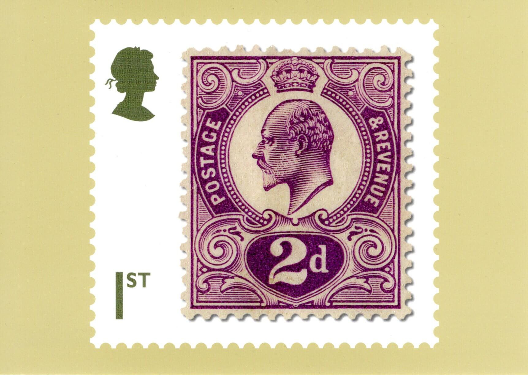 Great Britain - Stamp Classics (January 15, 2019) 2-penny King Edward VII of 1910 PHQ card