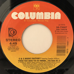 C & C MUSIC FACTORY:THINGS THAT MAKE YOU GO HMMMM...(LABEL SIDE-B)