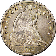 1872-CC dollar obverse
