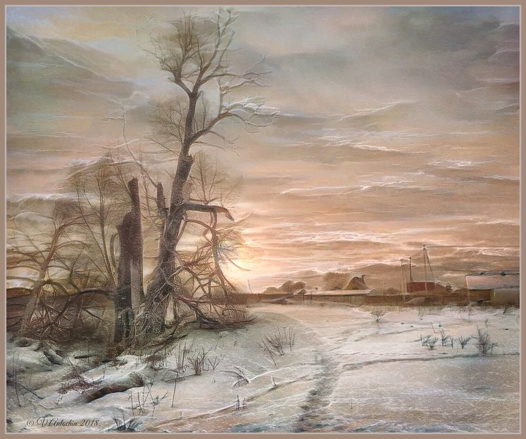 Winter landscape. (Borovsk). iPhoneart.