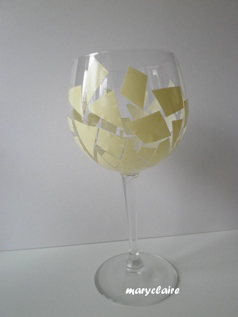 bicchiere con biadesivo