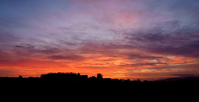 Sunset, Hatchbank Road, Fujifilm X-Pro1, XF18mmF2 R