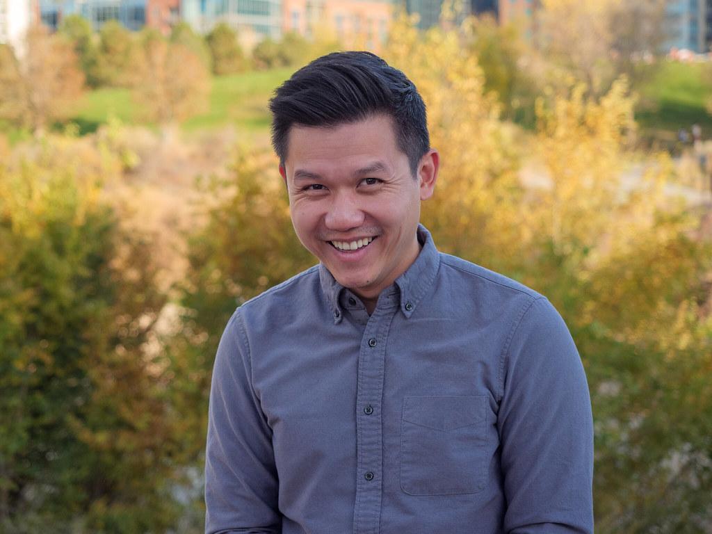 Portrait in a Denver park