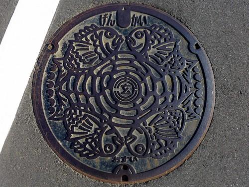 Genkai Saga, manhole cover (佐賀県玄海町のマンホール)
