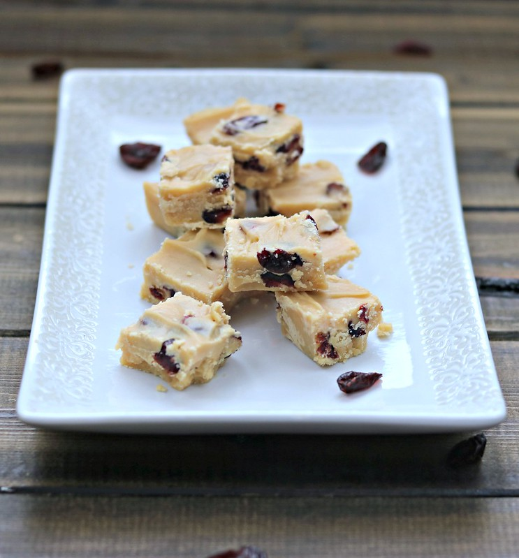 Cranberry Eggnog Fudge