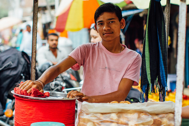 Pani Poori Vendor, Allahabad India