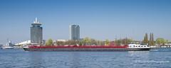 Huge double Barge - Amstel River, Amsterdam