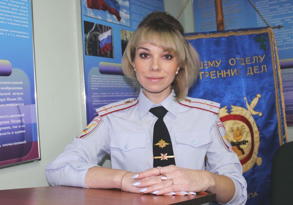 Елена Лебедева, оперуполномоченный ОБЭП, старший лейтенант полиции