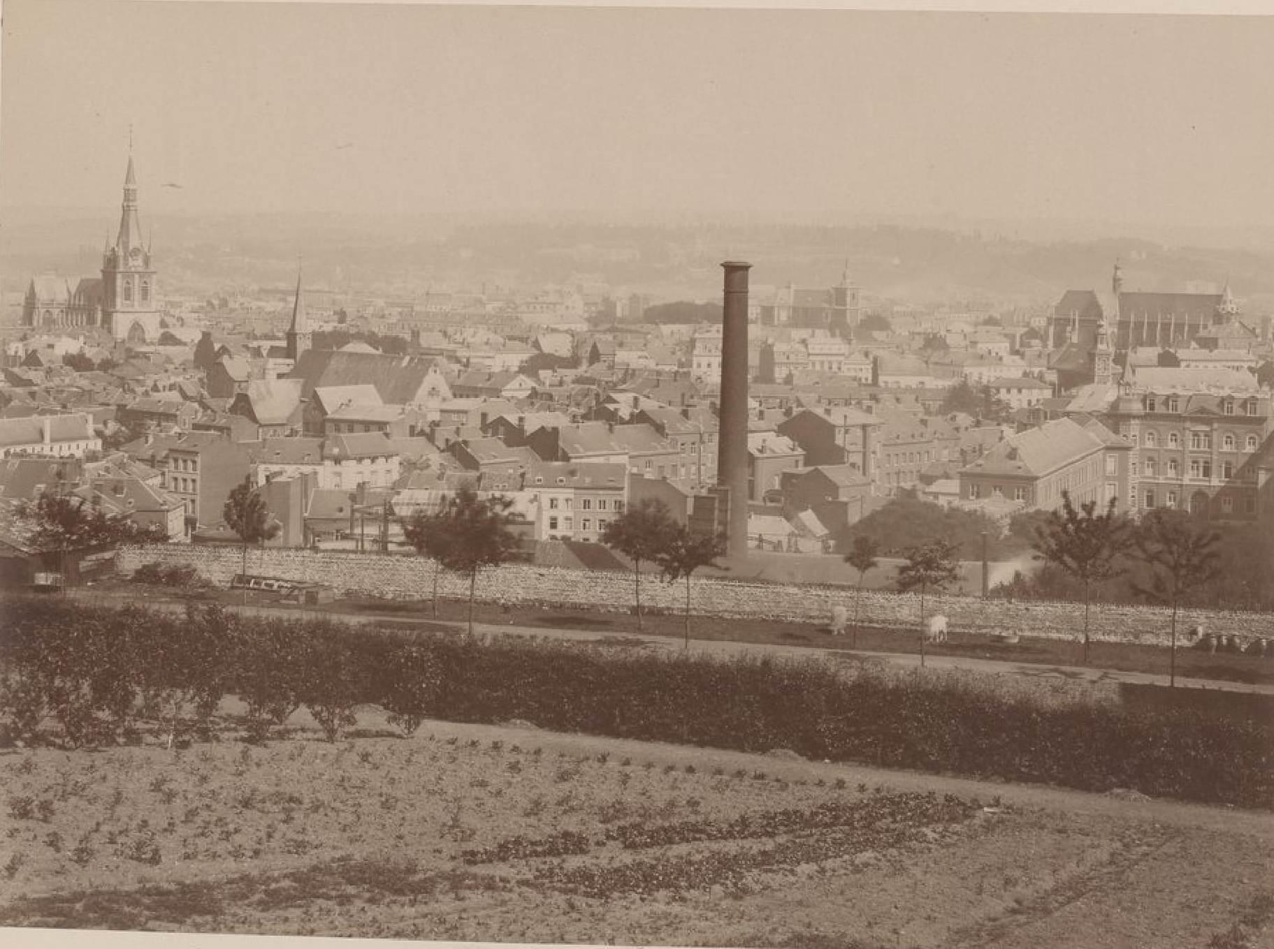 Бельгия. Льеж. Панорама города. 19 мая 1888