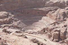 Top View of the Nabatean Theatre & Street of Facades in Petra (1)