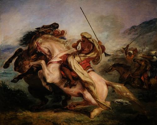 Eugène Delacroix, Collision of Arab Horsemen, 1833-34 10/2/18 #metmuseum #artmuseum