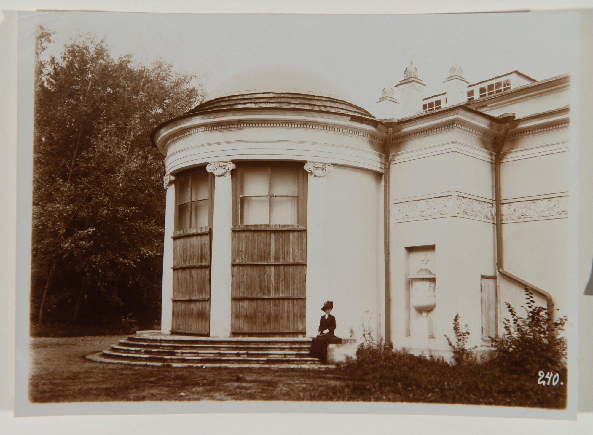 1910. Ротонда и Итальянский павильон дворца в Останкине